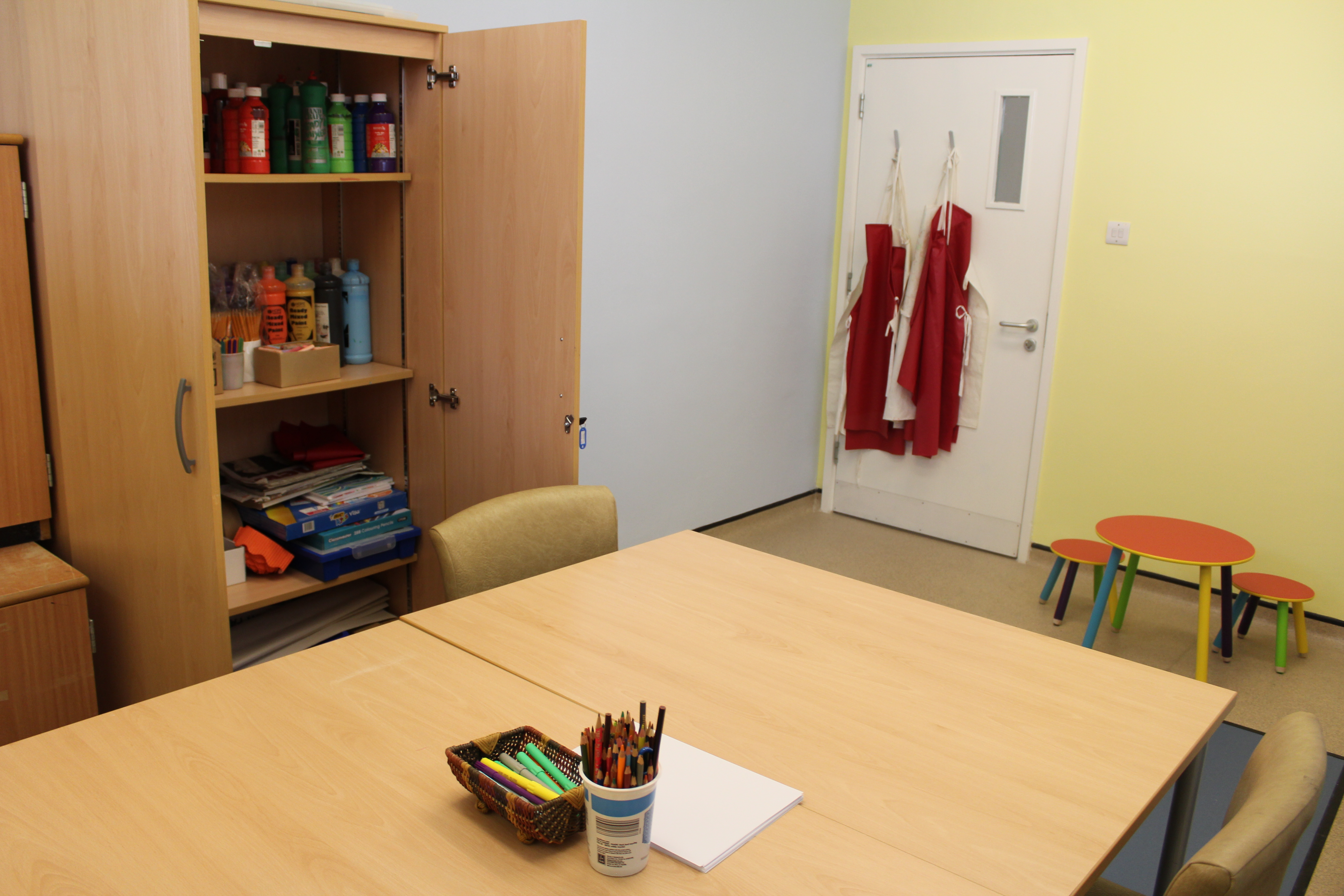 Children help transform art and assessment rooms at Bournemouth clinic