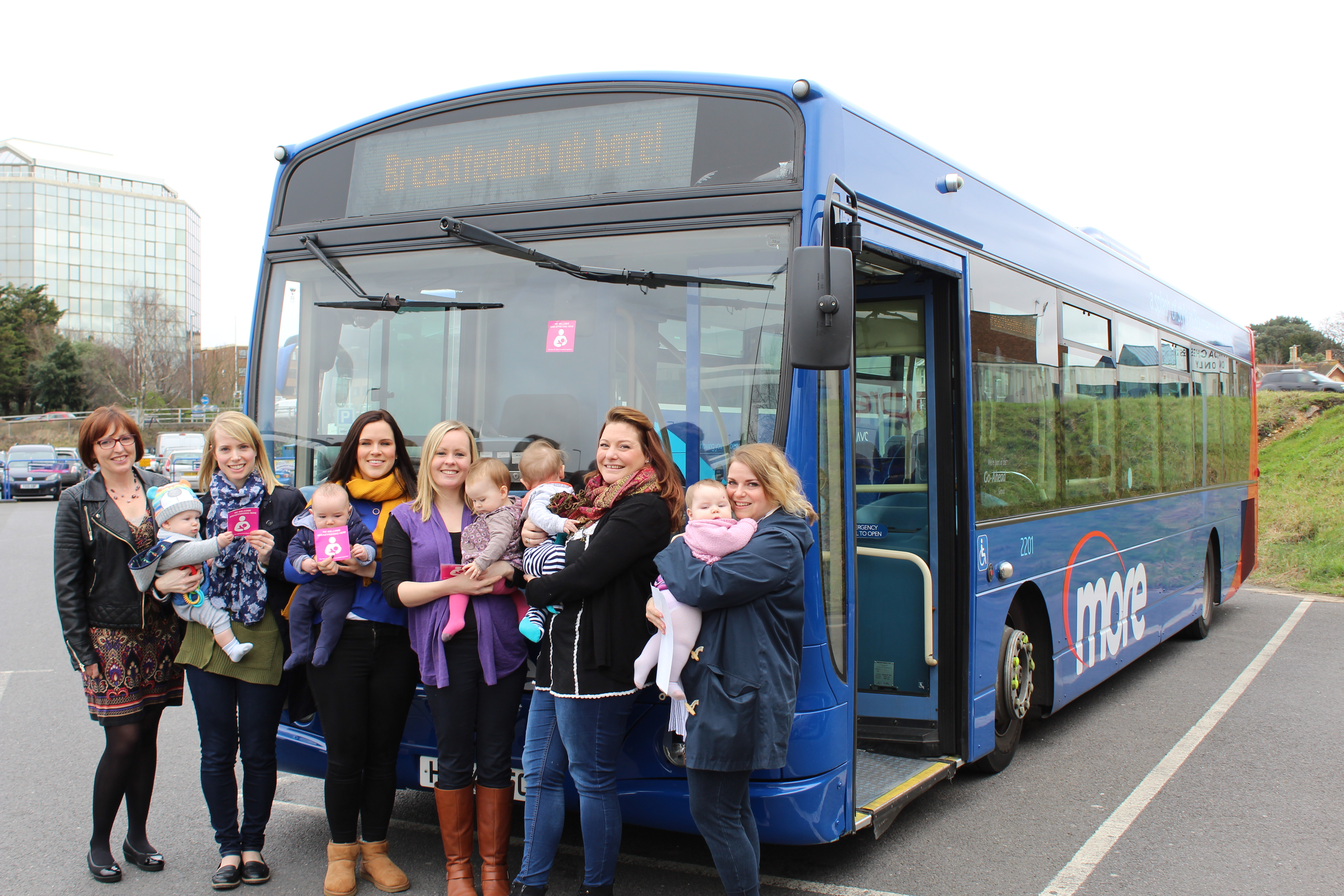 All aboard as Morebus join Dorset HealthCare's breastfeeding campaign