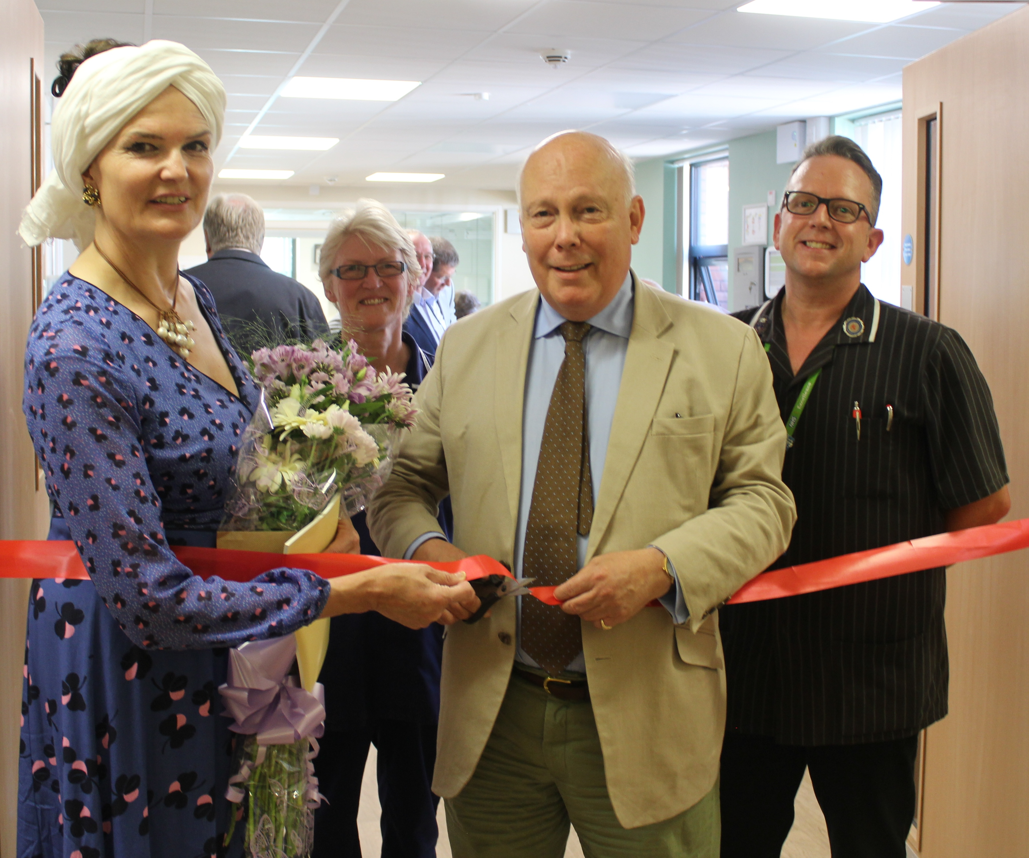 A theatrical grand opening for Blandford Hospital's new end of life care unit