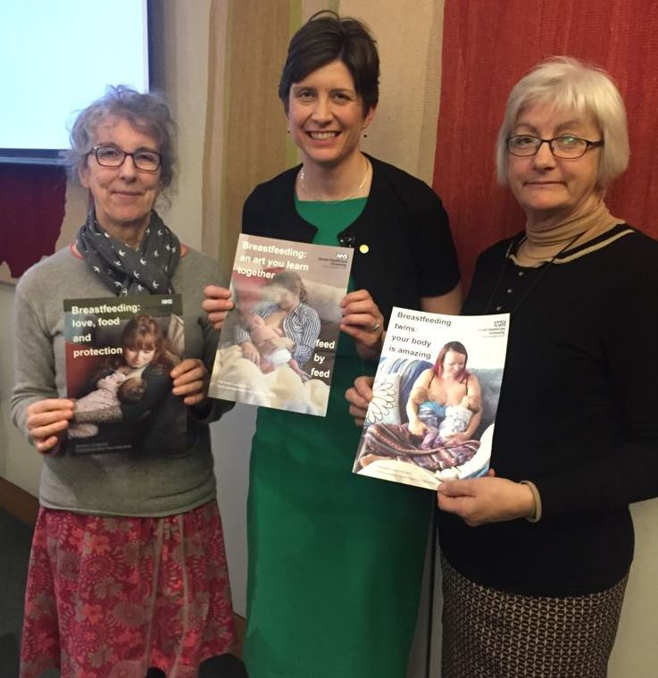 Trust's successful breastfeeding campaign heads to Parliament