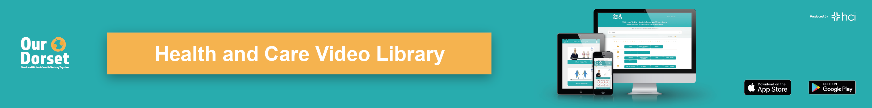 Health and care video library banner